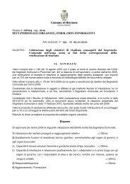 Valutazione degli obiettivi di risultato conseguiti dal Segretario