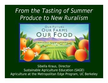 Tasting of Summer Produce - University of California Small Farm ...