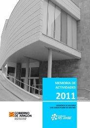 memoria de actividades 2011 - Fundación Rey Ardid