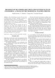 the design of multimedia documentation systems to ... - Virtual Educa