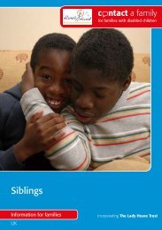 Siblings - Contact a Family