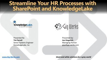 Streamline Your HR Processes with SharePoint and ... - Gig Werks