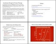 Accelerator Design for Proton Therapy