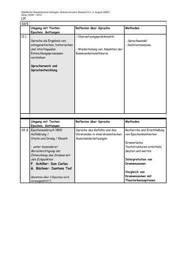 Schulinterner Lehrplan D Leistungskurs ... - Gesamtschule Solingen