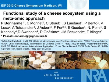 The cheese ecosystem - IDF Cheese Ripening