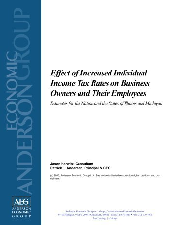 Effect of Increased Individual Income Tax Rates on Business ...