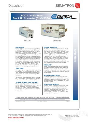 LPOD KuBand Block up Converter SSPA - Sematron UK Ltd.