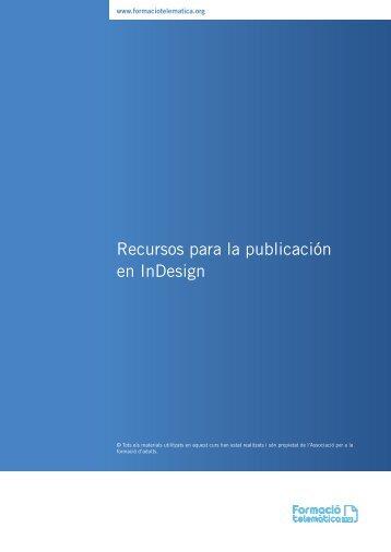 Recursos para la publicación en InDesign - Formació