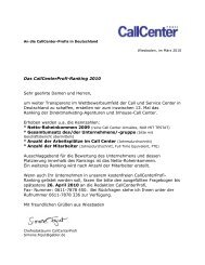 Der Fragebogen Ranking 2010 als PDF - Callcenter-Profi