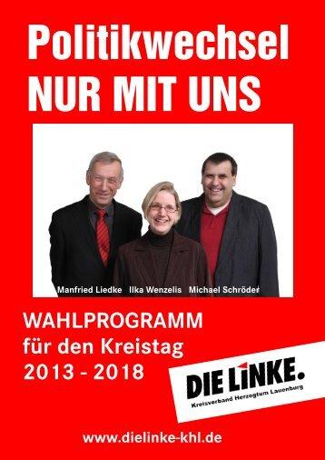 WAHLPROGRAMM für den Kreistag 2013 - 2018 - Die Linke ...