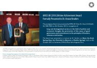 award presentation press release - AMSS(UK)