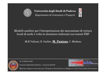 Modelli analitici per l'interpretazione dei meccanismi di ... - ReLUIS