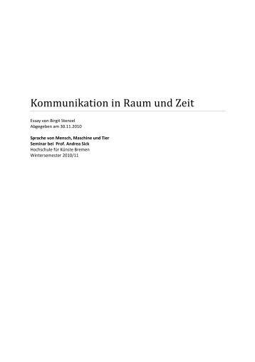 Kommunikation in Raum und Zeit - Birgit Stenzel