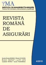 revista română de asigurări - Institutul de Management in Asigurari