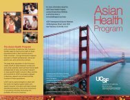 The Asian Health Program - Support UCSF - University of California ...