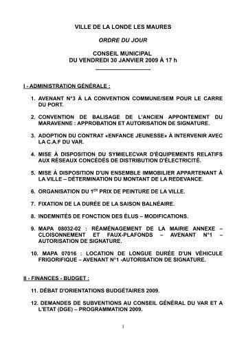 Conseil de metropole du 24 f vrier 2016 ordre du jour - Office du tourisme de la londe les maures ...