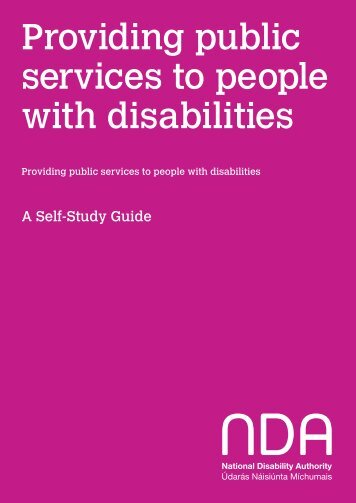 Providing public services to people with disabilities - The National ...