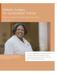 Robotic Surgery for Gynecologic Cancer - Baystate Health