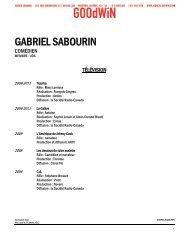 GABRIEL SABOURIN - Agence Goodwin