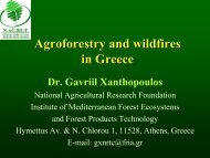 Agroforestry and wildfires in Greece