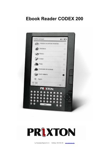 Ebook Reader CODEX 200 - Prixton