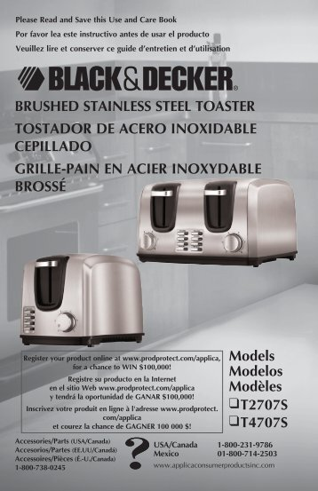 brushed stainless steel toaster tostador de acero inoxidable