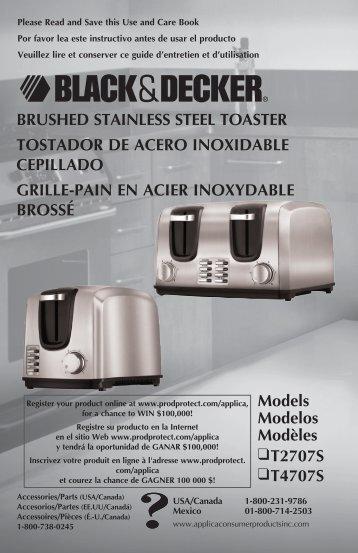brushed stainless steel toaster tostador de acero inoxidable