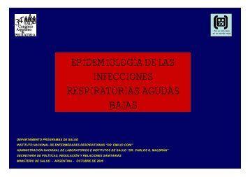 epidemiología de las infecciones respiratorias agudas bajas