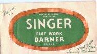 Singer Flat Work Darner - ISMACS
