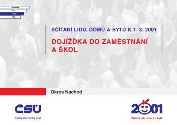dojížďka do zaměstnání a škol Okres Náchod - Český statistický úřad