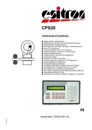Bestelldaten: CPS20.500.120 VORSCHUB-STEUERUNG - esitron