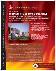23rd Annual SOUTHERN REGION BURN CONFERENCE