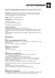 Referat fra menighedsrådsmøde onsdag den 5. maj 2010 kl. 19.00 ...