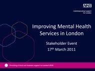 Powerpoint presentation template - London Health Programmes