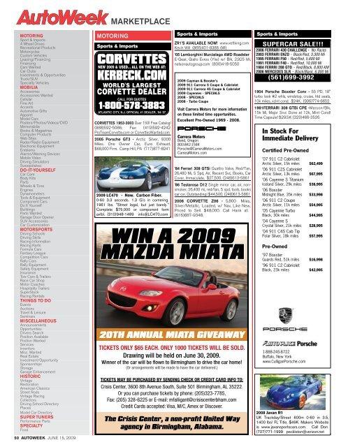 WIN A 2009 MAZDA MIATA - Autoweek