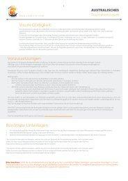 Visum Gültigkeit Voraussetzungen Benötigte Unterlagen