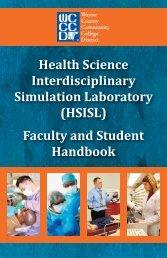 Health Science Interdisciplinary Simulation Laboratory (HSISL ...