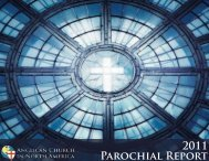 Parochial Report 2011 - Anglican Church in North America