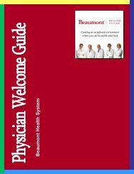 Physician Welcome Guide - Beaumont physicians