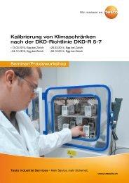 Kalibrierung von Klimaschränken nach der DKD-Richtlinie DKD-R 5-7