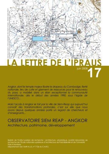 LA LETTRE DE L'IPRAUS - Ecole Nationale Supérieure d ...