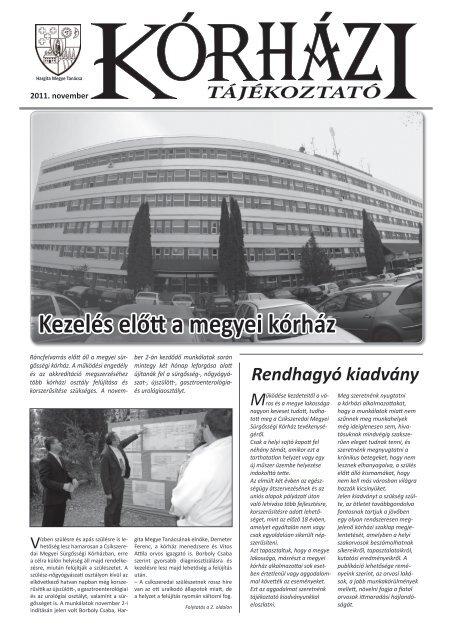 Kórházi tájékoztató - Hargita Megye Tanácsa