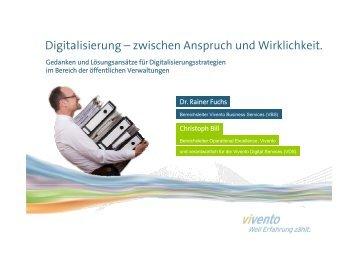 Digitalisierung – zwischen Anspruch und Wirklichkeit. - Vivento