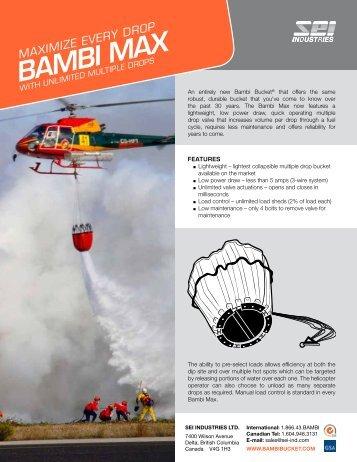 Bambi Max Brochure - SEI Industries Ltd.