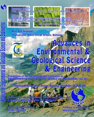 ADVANCES in ENVIRONMENTAL and GEOLOGICAL ... - Wseas.us