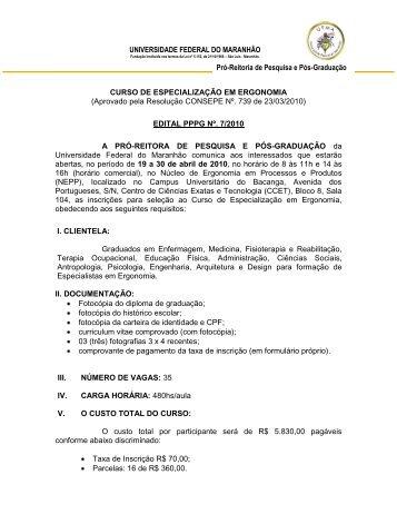 curso de especialização em telecomunicações - Pró-Reitoria de ...