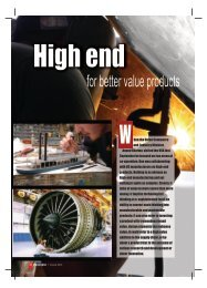High end manufacturing - Industrial Products