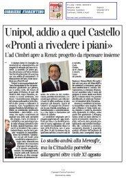 Unipol, addio a quel Castello «Pronti a rivedere i piani» - Comune di ...