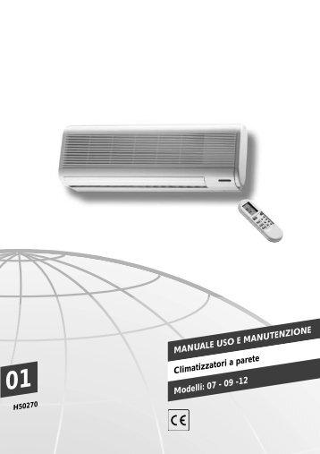 H50270-v01 Manuale Uso e Manut. Homeclima Split generico - Rhoss
