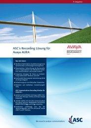 ASC´s Recording Lösung für Avaya AURA - ASC telecom